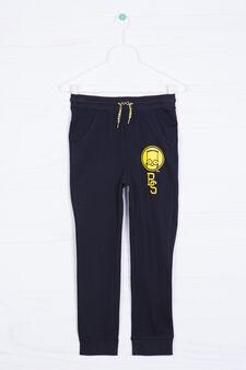 Bart cotton joggers, Black, hi-res