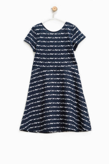 Patterned dress in 100% cotton