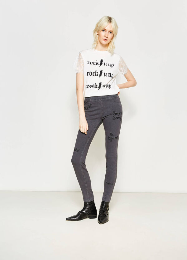Stretch jeggings with pockets   OVS