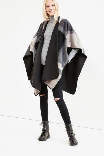 Check pattern cloak, Black/Grey, hi-res