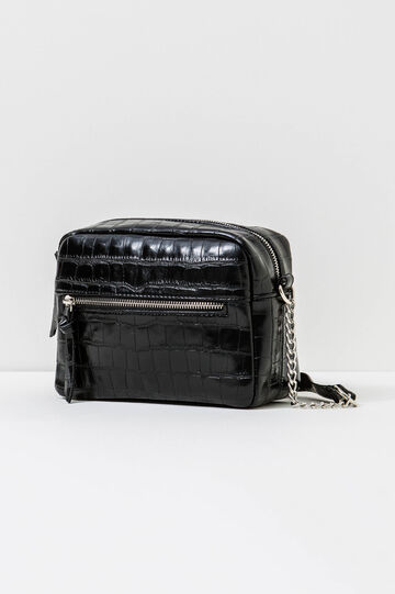 Bag with chain shoulder strap, Black, hi-res