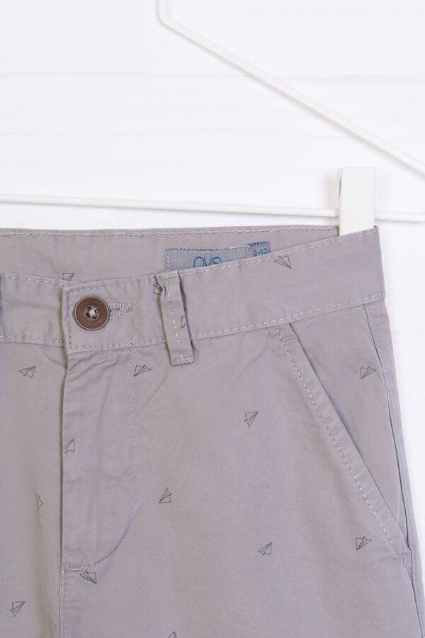 100% cotton Bermuda chinos with pattern | OVS