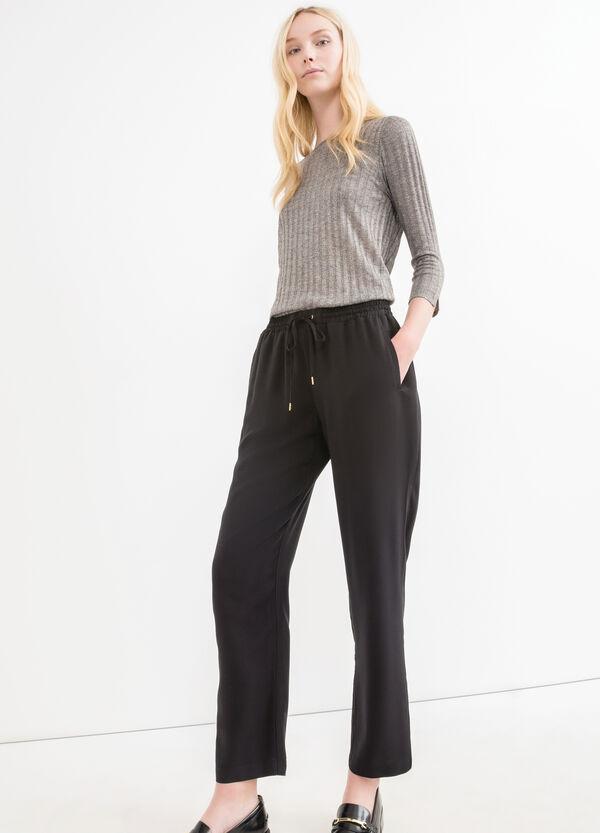 Pantaloni tuta pura viscosa coulisse | OVS