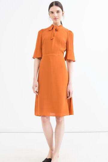Solid colour short dress, Orange, hi-res