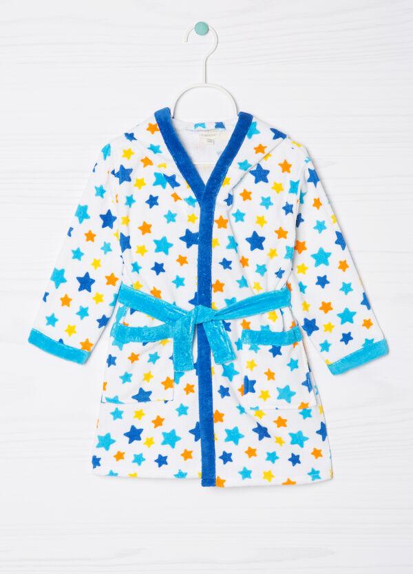 100% cotton patterned bathrobe | OVS