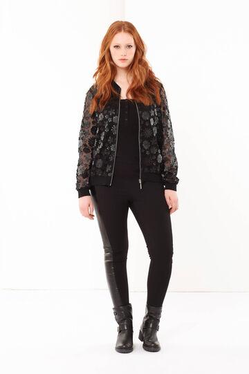 Curvyglam floral jacket, Black, hi-res