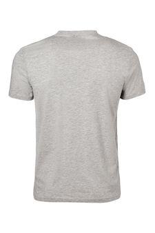 V neck underwear T-shirt, Grey Marl, hi-res