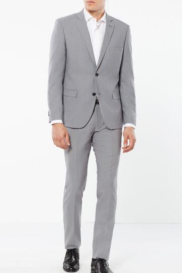 Elegant slim-fit suit in stretch viscose