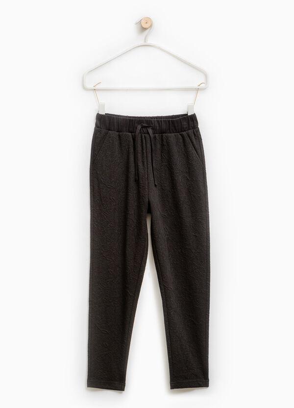 Pantaloni tuta trama in rilievo | OVS