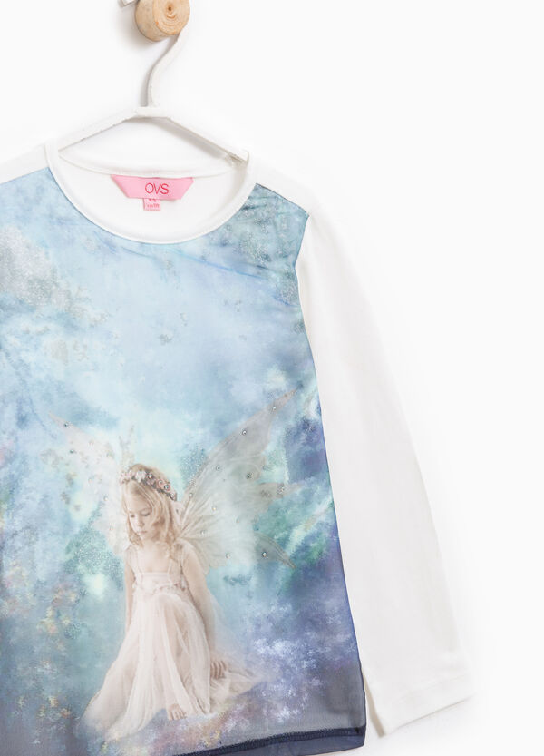 Stretch T-shirt with maxi print | OVS