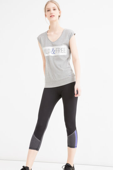 Stretch gym leggings, Black, hi-res