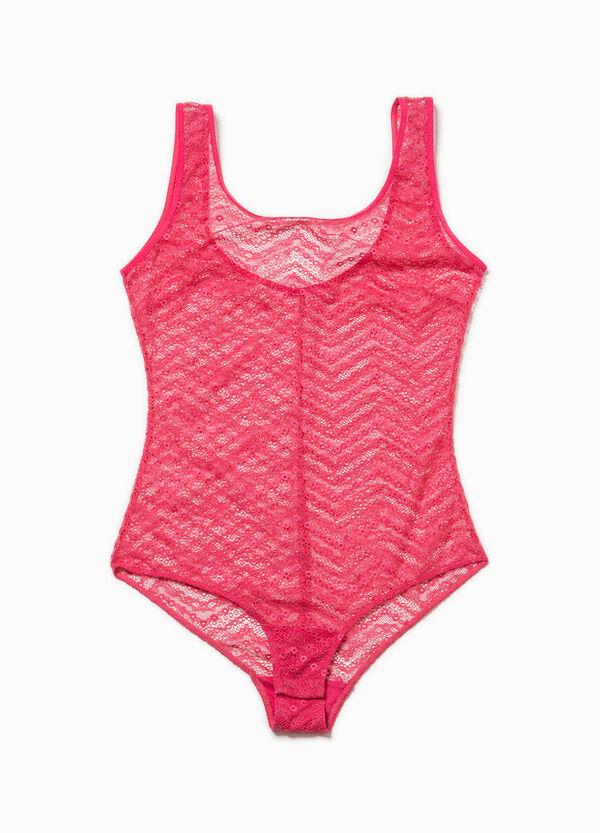 Solid colour stretch lace bodysuit   OVS