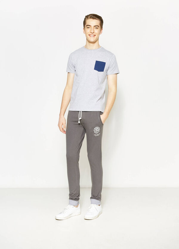 Trousers with contrasting ribbing | OVS