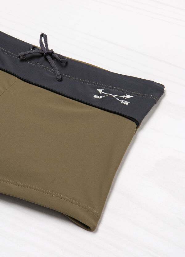 Stretch swim boxer shorts with drawstring | OVS