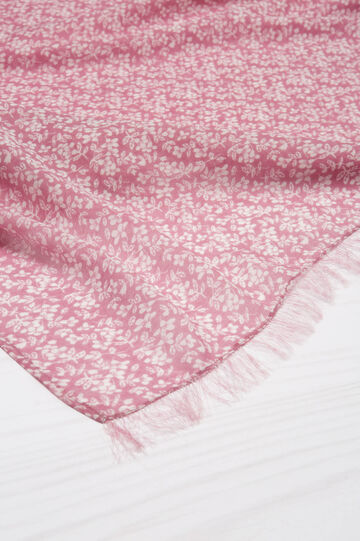 Flower patterned scarf, Pink, hi-res