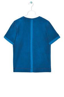 T-shirt stampa tono su tono, Blu/Azzurro, hi-res