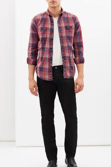 Camicia con taschini G&H, Blu/rosso, hi-res