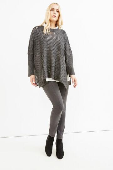 Curvy stretch cotton leggings, Slate Grey, hi-res