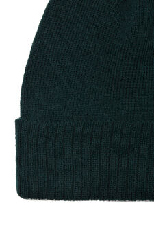 Ribbed beanie cap, Forest Green, hi-res