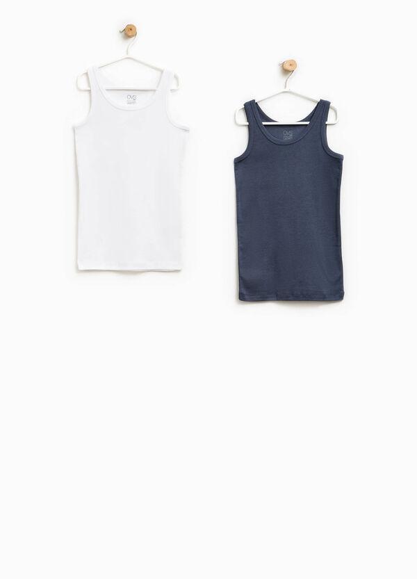 Pack de dos camisetas de tirantes interiores en color liso | OVS