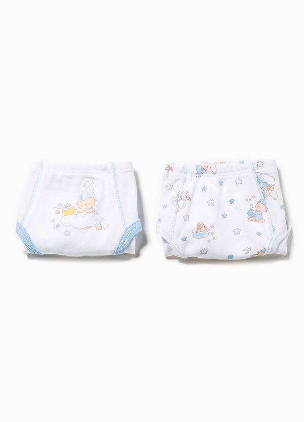 Two-pack solid colour and patterned briefs | OVS