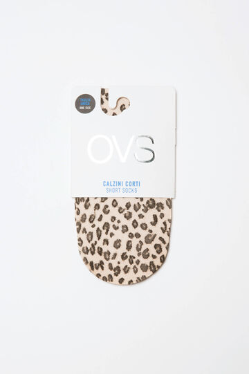 Short stretch animal-patterned pop socks