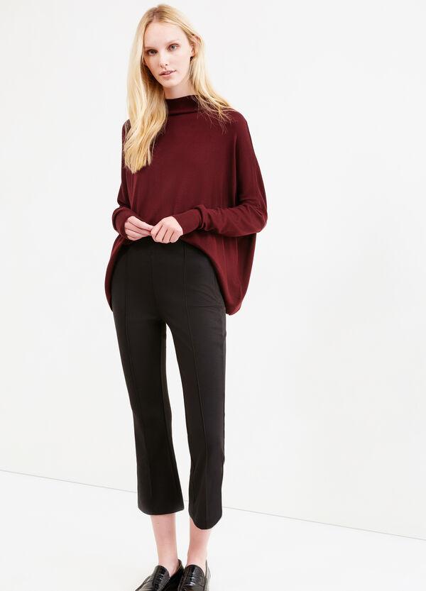 Crop viscose blend leggings | OVS