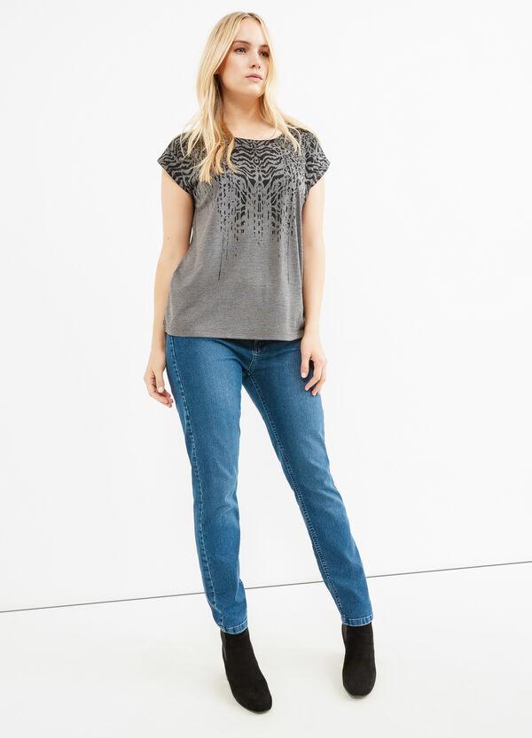 T-shirt con stampa e strass Curvy | OVS