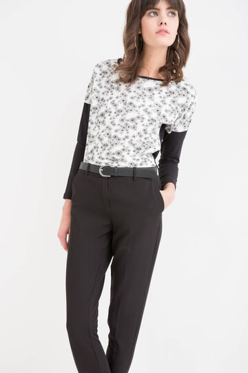 100% cotton T-shirt with flower pattern