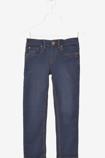 Jeans with contrasting seams., Navy Blue, hi-res