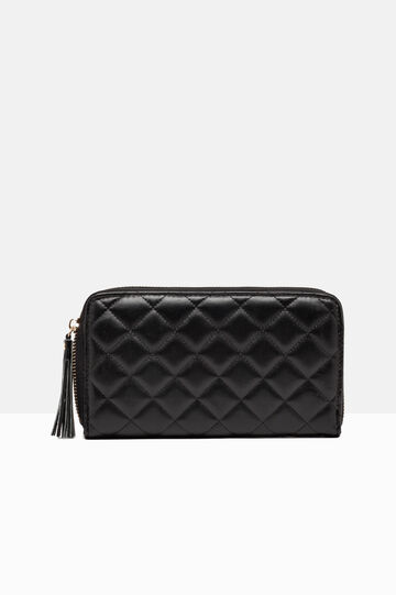 Leather look wallet, Black, hi-res