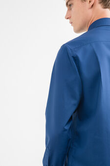 Solid colour, regular-fit formal shirt, Blue, hi-res