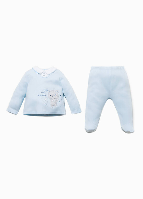T-shirt and stretch baby leggings outfit | OVS