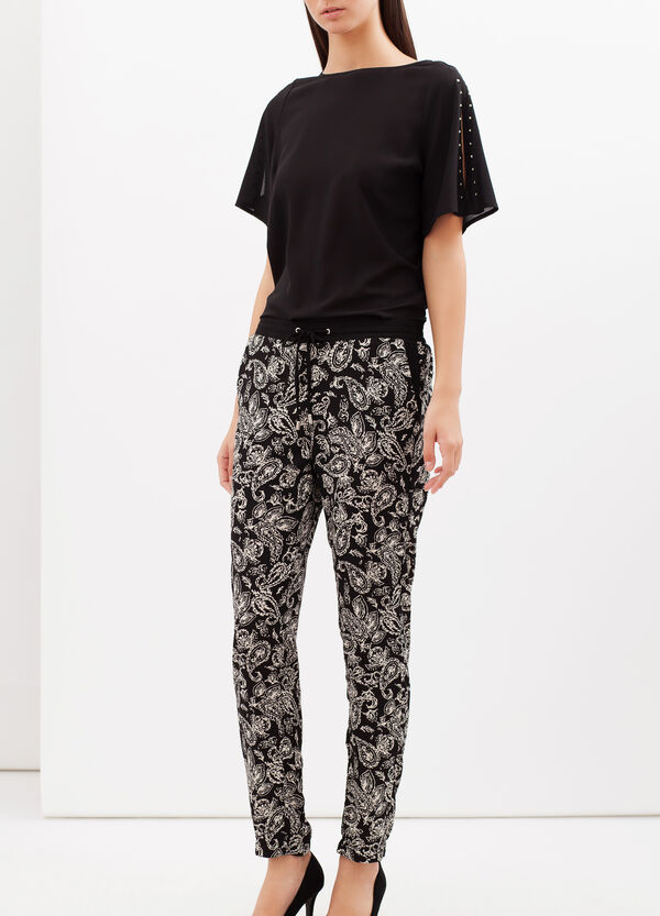 Patterned cigarette trousers | OVS