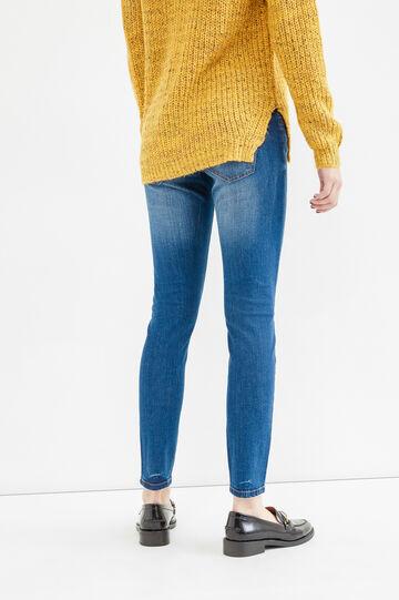 Ripped, skinny fit jeans, Dark Blue, hi-res