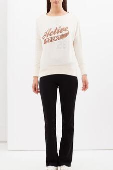 T-shirt sportiva con paillettes, Rosa chiaro, hi-res