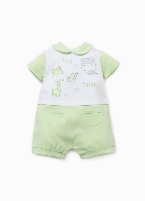 Two-tone romper suit with pockets | OVS