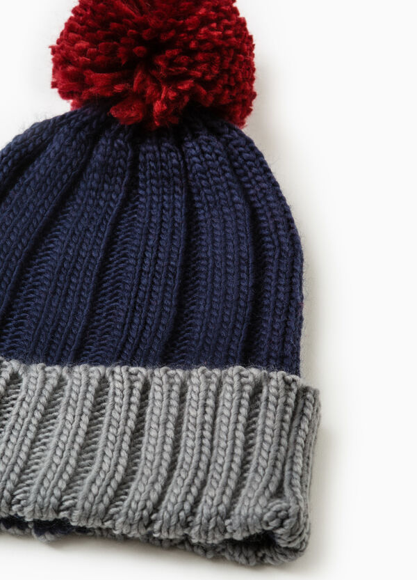 Knit beanie with pompom | OVS