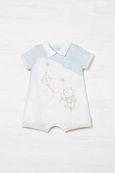 Winnie the Pooh Biocotton onesie, White/Light Blue, hi-res