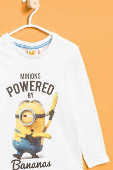 Maxi Minions print cotton T-shirt, Off-white, hi-res