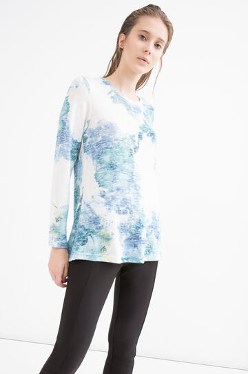 T-shirt misto viscosa floreale