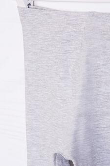 Solid colour stretch leggings, Light Grey, hi-res