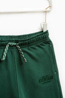Pantaloni tuta cotone stampati, Verde, hi-res