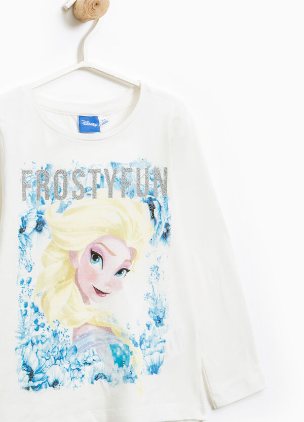 Cotton T-shirt with maxi Frozen print | OVS
