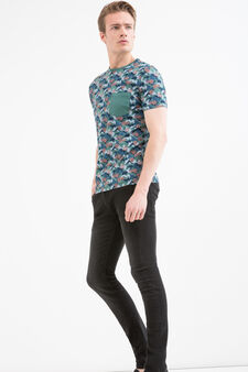 G&H 100% cotton patterned T-shirt, Light Green, hi-res