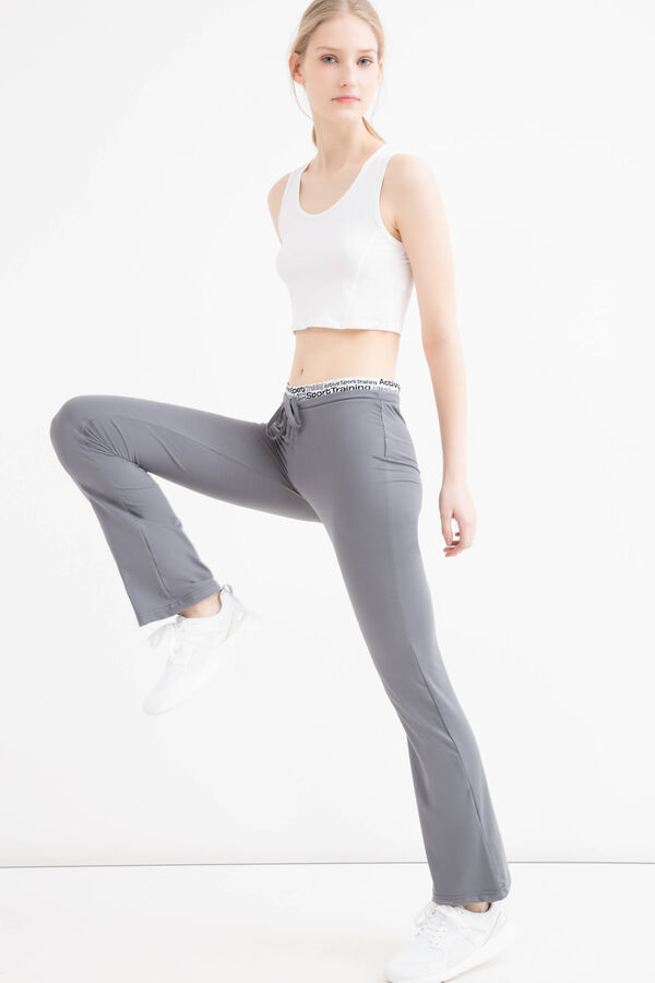 Stretch patterned gym pants | OVS