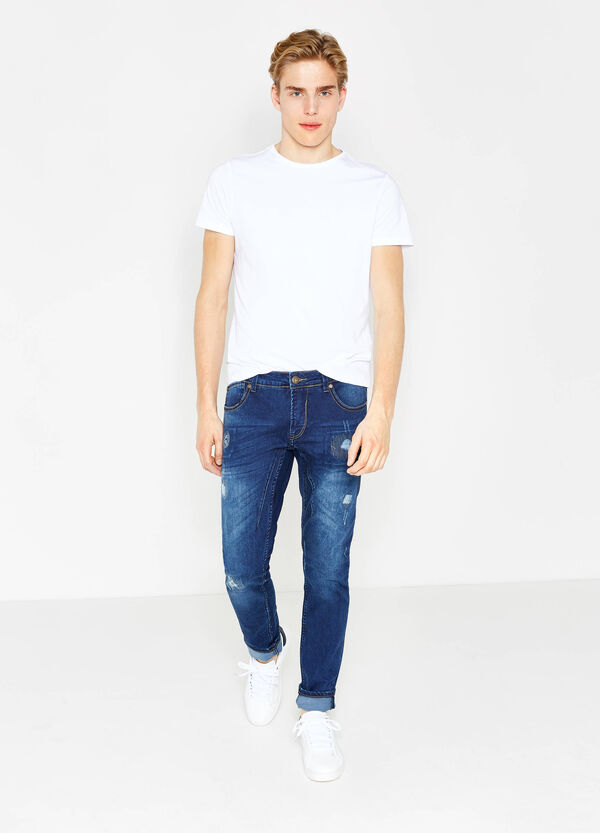 Jeans skinny fit stretch used con strappi | OVS
