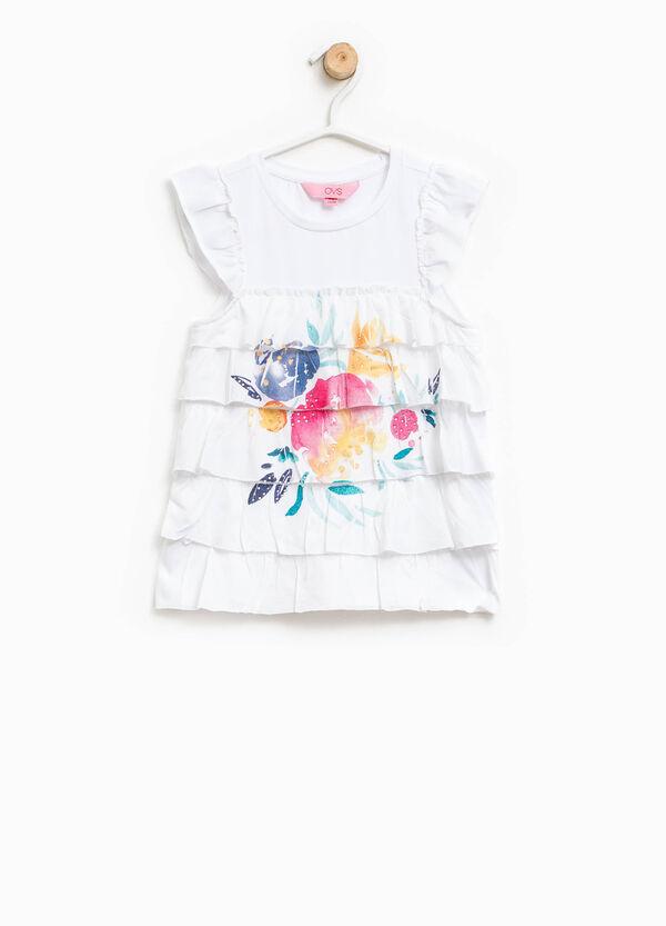 T-shirt stampata con balze | OVS