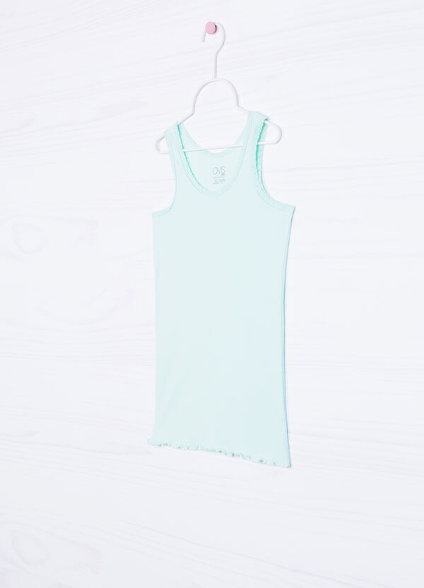 Lace and cotton undervest | OVS