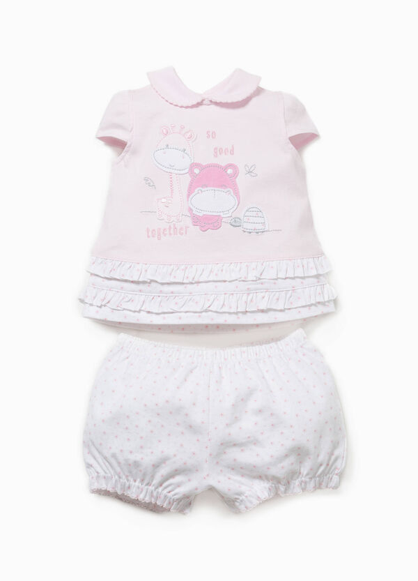 Cotton T-shirt and shorts set | OVS